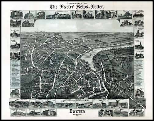 Exeter 1896 Panoramic Drawing
