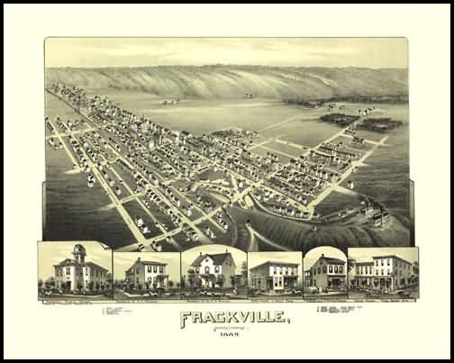 Frackville Panoramic - 1889