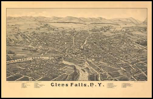 Glens Falls Panoramic - 1884