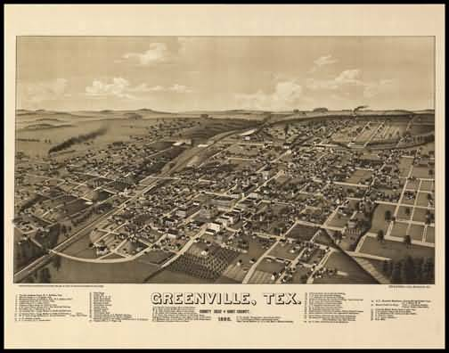 Greenville 1886 Panoramic Drawing
