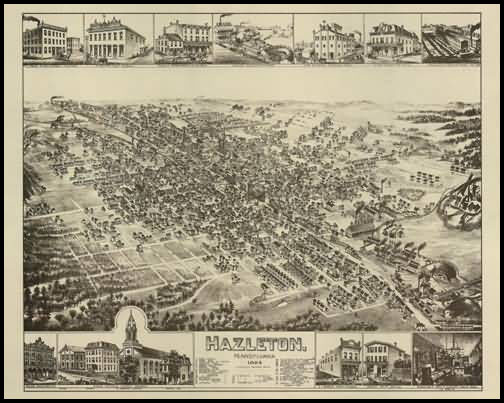 Hazleton Panoramic - 1884
