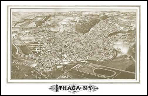 Ithaca Panoramic - 1882