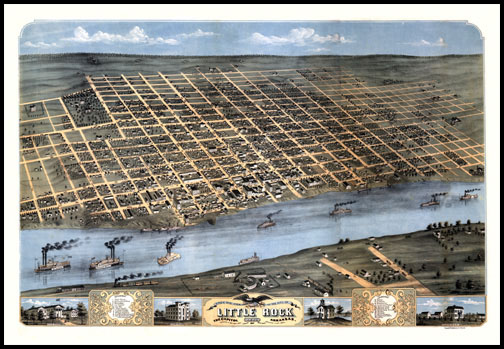 Little Rock Panoramic - 1871