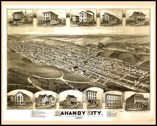 Mahanoy City Panoramic - 1889