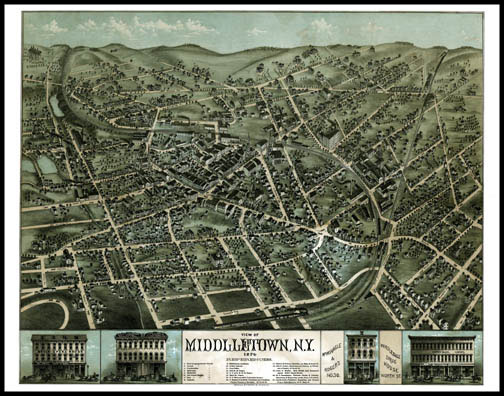 Middletown Panoramic - 1874