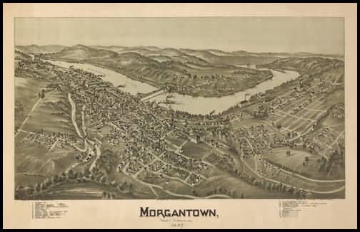 Morgantown Panoramic - 1897