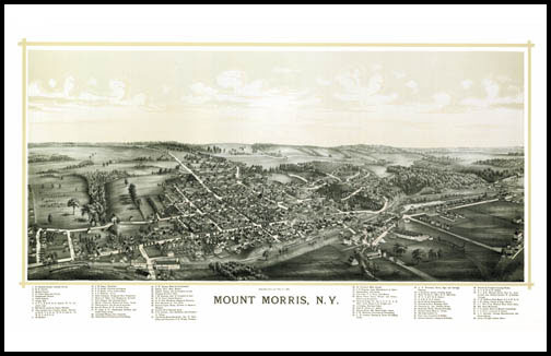 Mount Morris Panoramic - 1893
