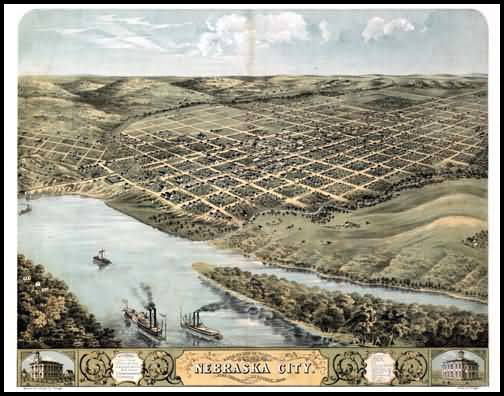 Nebraska City Panoramic - 1868