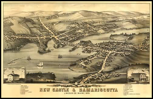 New Castle & Damariscotta Panoramic - 1878