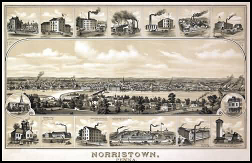 Norristown Panoramic - 1881