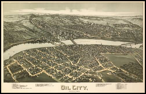 Oil City Panoramic - 1896