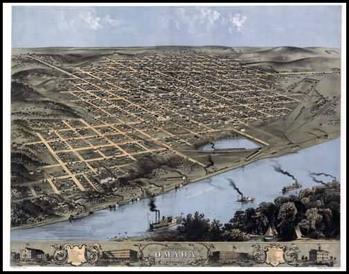 Omaha Panoramic - 1868