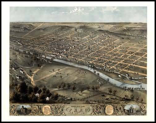 Peru 1868 Panoramic Drawing