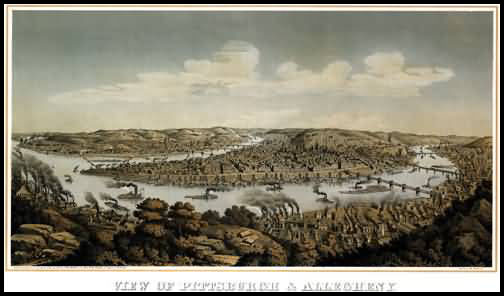 Pittsburgh Panoramic - 1874