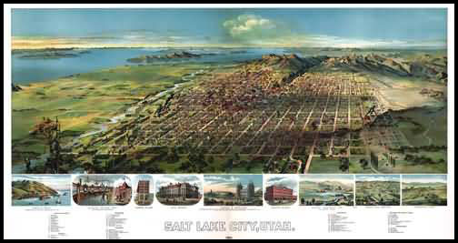 Salt Lake City Panoramic - 1891