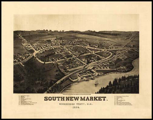 South New Market 1884 Panoramic Drawing