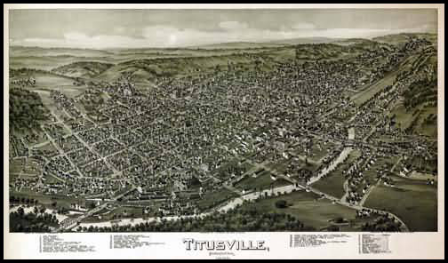 Titusville Panoramic - 1896