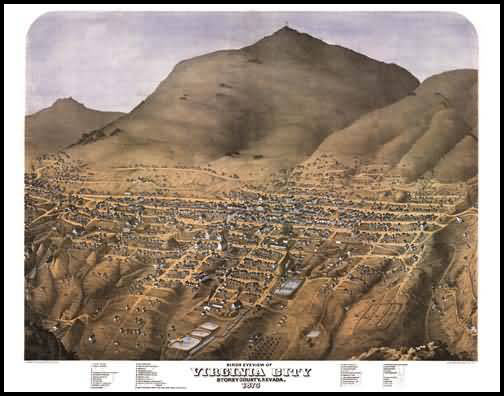 Virginia City Panoramic - 1875