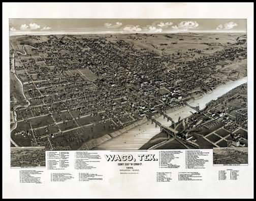 Waco 1886 Panoramic Drawing