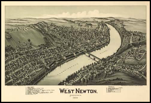 West Newton Panoramic - 1900