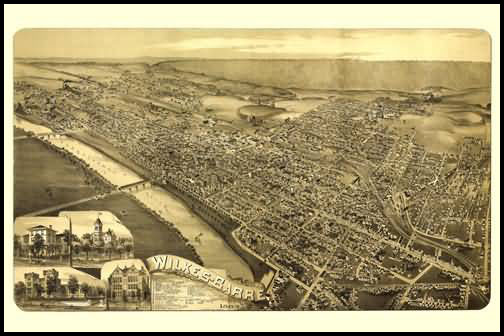 Wilkes Barre Panoramic - 1889